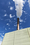 Smoke stack with copyspace Royalty Free Stock Photography