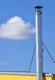 Smoke stack of a factory Stock Photography