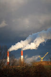 Smoke Stack, Global Warming concepts Stock Photos
