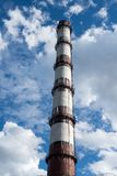 Smoke stack of the industrial plant Stock Images