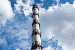 Smoke stack of the industrial plant Stock Photo