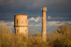 Smoke Stack. Industry town Stock Photography