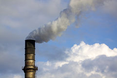 Smoke Stack Pollution Royalty Free Stock Photography