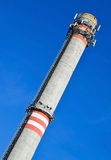 Smoke stack of the power station Stock Photos