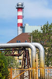 Smoke stack of the power station Stock Photography