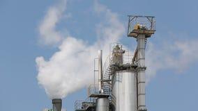 Smoke stack with smoke stock footage