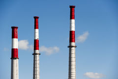 Smoke stacks Royalty Free Stock Photos
