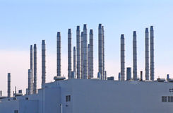 Smoke Stacks Royalty Free Stock Images