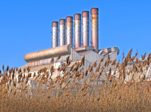 Smoke Stacks Stock Photo