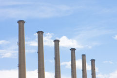 Smoke stacks Stock Image