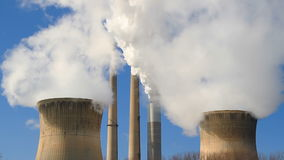 Smoke Stacks and Cooling Towers Loop stock footage