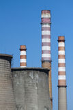 Smoke stacks and cooling towers Royalty Free Stock Images