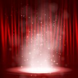 Smoke on the stage. Stock Images
