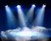 Smoke on the stage. Vector illustration. Royalty Free Stock Photography