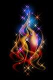 Smoke and stars Royalty Free Stock Photo