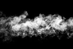 Smoke or steam cloud. Smoke or steam cloud on black background Stock Photos