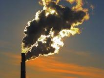 Smoke at sunset 2 royalty free stock photography