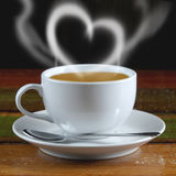 Smoke sweet heart coffee Royalty Free Stock Photography