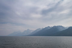 Smoke in the Tetons Royalty Free Stock Photography