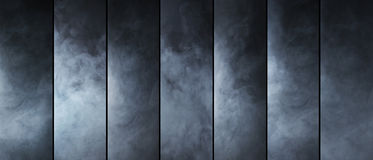 Smoke texture collection. Different gas shapes. Stock Photo