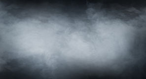 Smoke Texture Over Blank Black Background Royalty Free Stock Photos