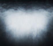 Smoke texture over blank black background Stock Image