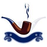 Smoke tube emblem Stock Photos