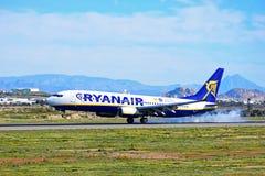 Smoke From Tyres As Aircraft Lands Stock Photos