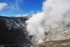 Smoke from Volcano Crater Royalty Free Stock Photography