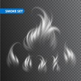 Smoke waves on transparent background. Vector. Illustration EPS 10 Royalty Free Stock Photos