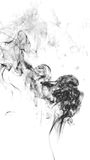 Smoke on white background abstract art texture fog. Element for creative design Royalty Free Stock Photo
