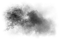 Smoke on white background Stock Images