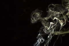 Smoke on white background Stock Photo