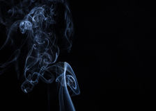 Smoke on white background Royalty Free Stock Images