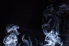 Smoke on white background Stock Photos