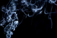 Smoke on white background Royalty Free Stock Image