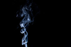 Smoke on white background Royalty Free Stock Photos