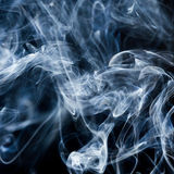 Smoke on white Stock Images
