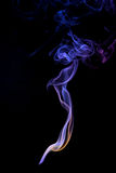 Smoke. White smoke on isolated black background Stock Photo