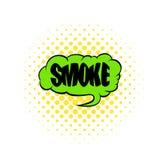 Smoke word icon, comics style Royalty Free Stock Photography