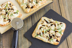 Smoked Ahi Pizza Royalty Free Stock Images