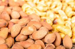 Smoked almond and cashew Royalty Free Stock Photography