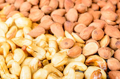Smoked almond and cashew Royalty Free Stock Photos