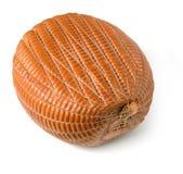 Smoked artisan ham. A whole piece of smoked artisan ham Stock Photography