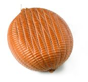 Smoked artisan ham. A whole piece of smoked artisan ham Royalty Free Stock Images