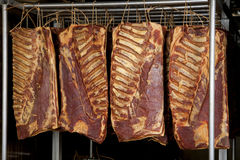 Smoked bacon Royalty Free Stock Photo