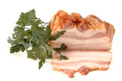 Smoked bacon. Royalty Free Stock Image