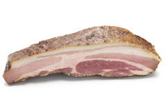 Smoked bacon block Royalty Free Stock Images