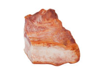 Smoked bacon chunk Royalty Free Stock Photos