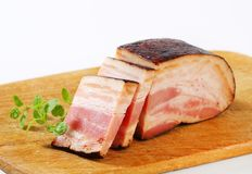 Smoked bacon Stock Images